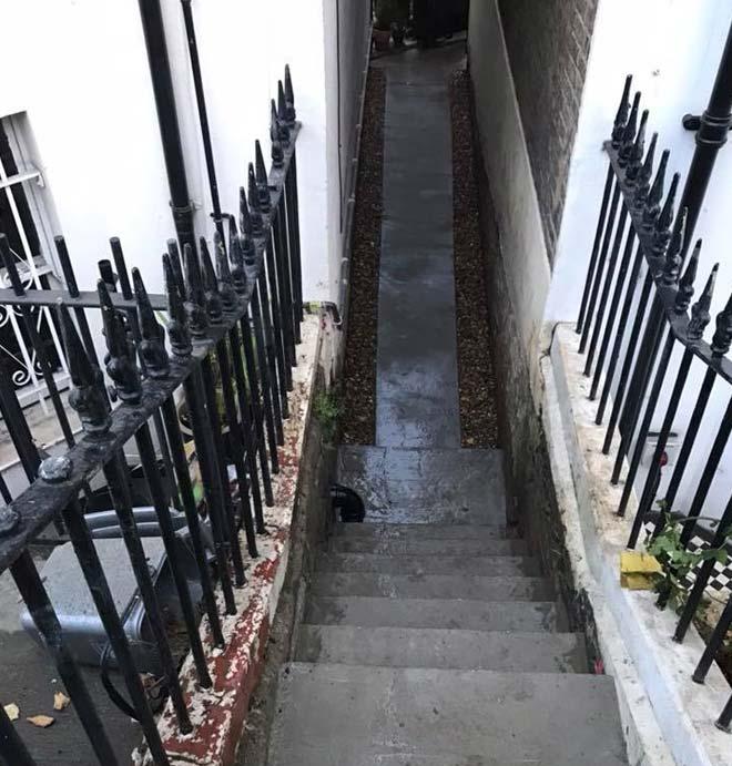 french drain-storm drainage-london
